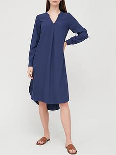 v-by-very-notch-neck-midi-dress-blue