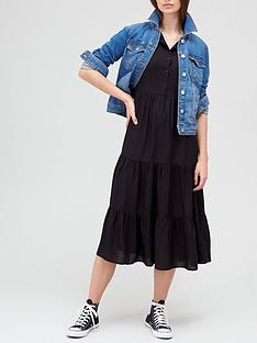 v-by-very-shirt-tiered-midi-dress-blacknbsp