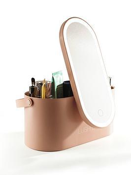 Rio Lush Beauty Storage Box With Mirror And Light - White
