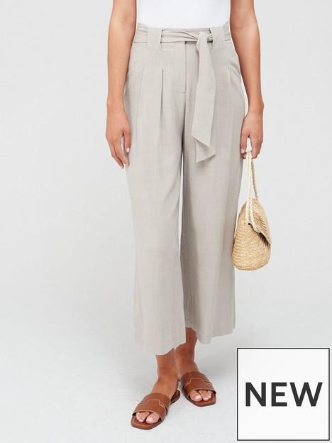 v-by-very-tie-waist-linen-culottesnbsp--neutralnbsp