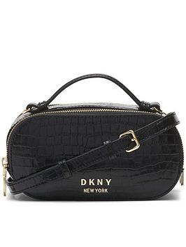 dkny-octavia-embossed-croc-leather-oval-camera-bag-black