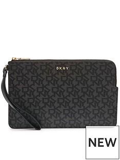 dkny-bryant-logo-wrsitlet-pouch-black