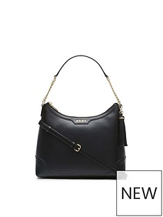 dkny-polly-sutton-lether-hobo-cross-body-bag-black