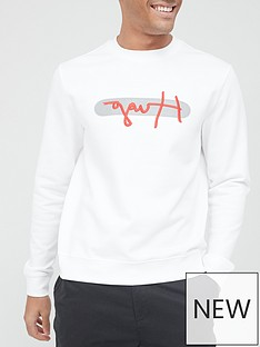 hugo-dicago-signature-reflective-logo-sweatshirt-whitenbsp