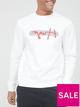 hugo-dicago-signature-reflective-logo-sweatshirt-whitenbsp
