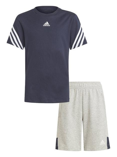adidas-junior-boys-bold-short-sleeve-t-shirt-and-shorts-set-blackgrey