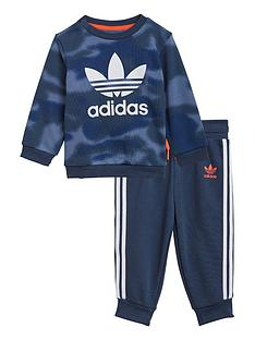 adidas-originals-boys-infant-crew-neck-top-and-pants-set-bluewhite