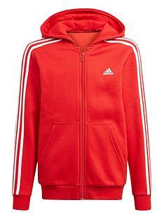 adidas-boys-junior-b-3-stripes-full-zipnbsphoodie-red