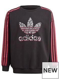 adidas-originals-girls-junior-long-sleeve-crew-neck-sweat-top-blackpink