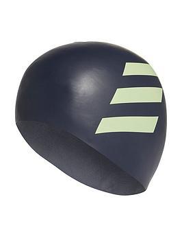 adidas-unisex-juniornbsp3nbspstripe-swimming-cap-grey