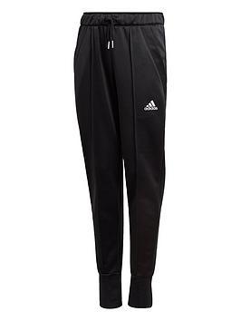 Adidas Girls Junior G Up Track Pant - Black/White