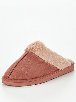 fake-suede-mule-pink