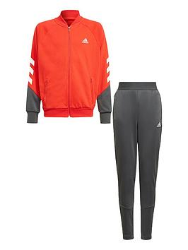 adidas-boys-junior-xfg-tracksuit-redgrey