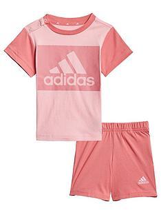 adidas-unisex-infantnbspshorts-amp-t-shirt-set-pink