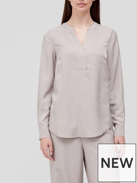 v-by-very-notch-neck-co-ord-blouse-neutral