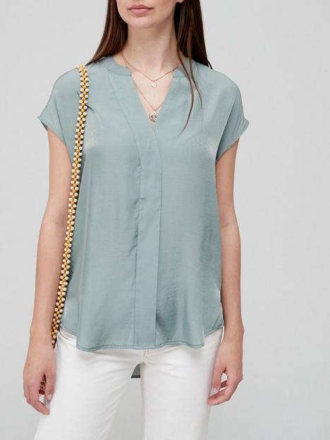 v-by-very-premium-cap-sleeve-blouse-sage