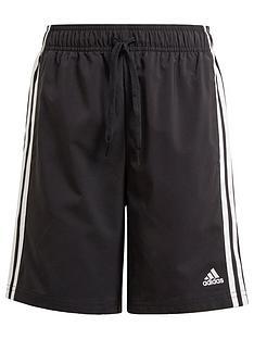 adidas-boys-junior-b-3-stripes-woven-short-black
