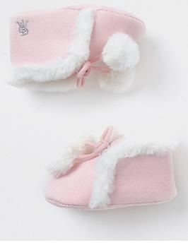 river-island-baby-baby-girls-faux-fur-pom-booties-pink