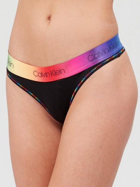 calvin-klein-modern-cotton-pride-thong-black