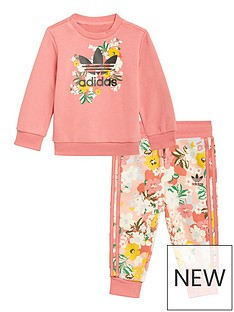 adidas-originals-girls-infant-crew-set-pinkmulti