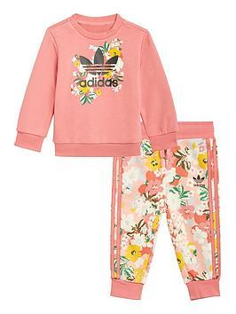 adidas-originals-girls-infant-crew-set-pinkmulti