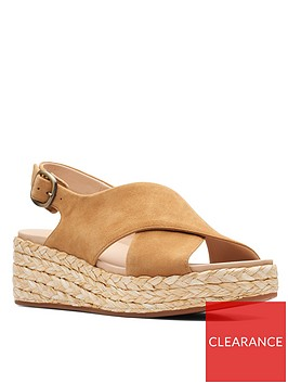 clarks-kimmei-cross-suede-wedge-sandal-ochrenbsp