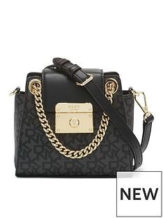 dkny-lilian-logo-mini-chain-cross-body-bag-black