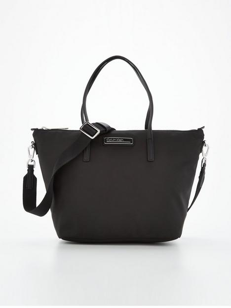 calvin-klein-small-recycled-polyester-blend-tote-bag-black