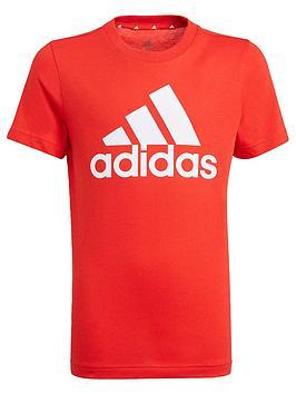 adidas-boys-junior-t-shirt-redwhite