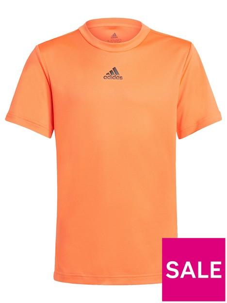 adidas-boys-junior-b-ar-short-sleeve-t-shirt-orangeblack
