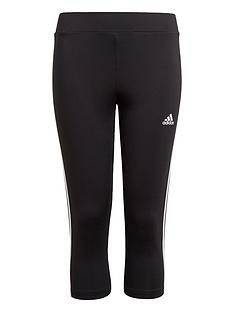 adidas-girls-junior-g-3-stripes-34-tight-blackwhite