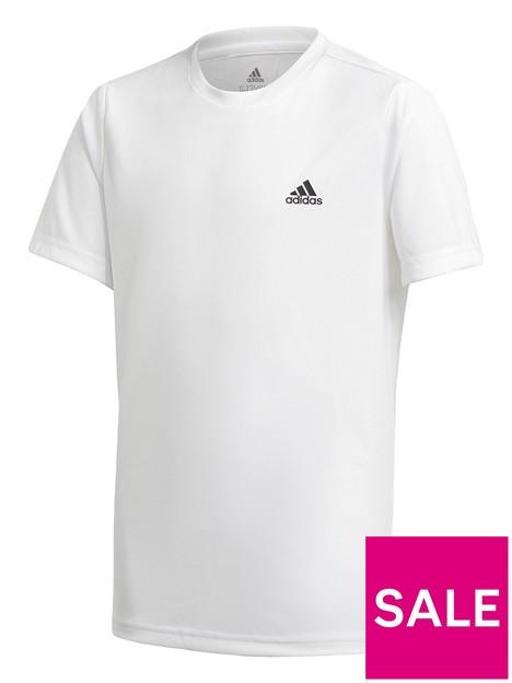 adidas-boys-junior-t-shirt-white