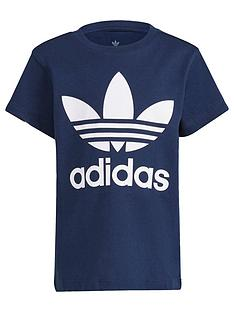 adidas-originals-unisex-younger-shortnbspsleeve-trefoil-t-shirt-navywhite
