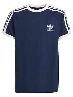adidas-originals-unisex-junior-short-sleeve-3-stripes-t-shirt-navywhite