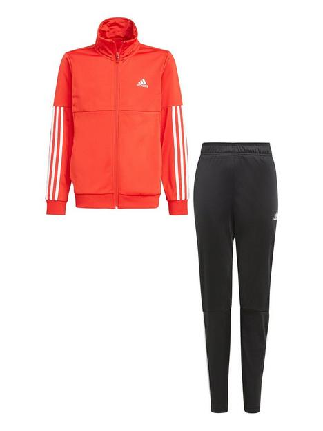 adidas-boys-junior-b-team-tracksuit-redblack