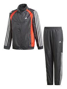 adidas-boys-juniornbspwoven-tracksuit-greyred
