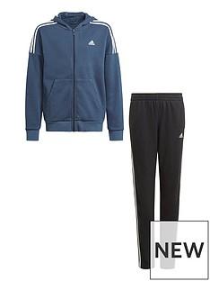 adidas-boys-juniornbspcotton-tracksuit-navyblack