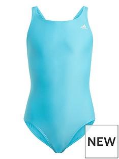 adidas-girls-junior-swimsuit-greenwhite