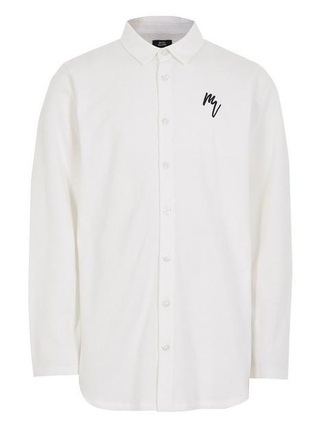 river-island-boys-long-sleeve-pique-shirt--nbspwhite