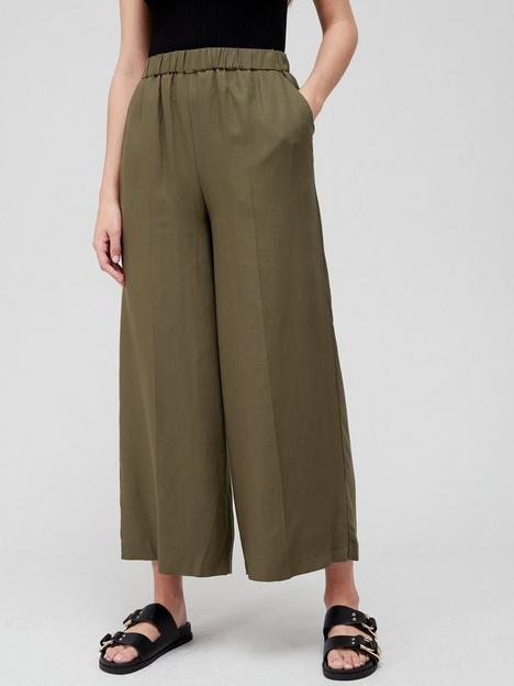 v-by-very-elasticated-waist-culotte-khaki