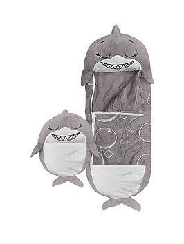 happy-nappers-grey-shark-sleeping-bag-medium