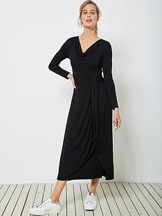 mint-velvet-mint-velvet-black-twist-jersey-midi-dress