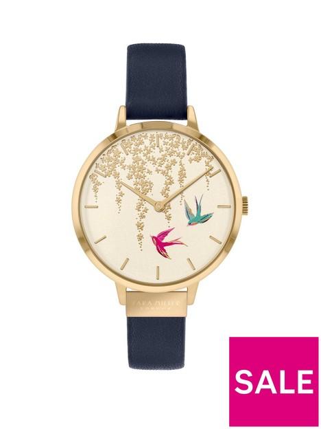 sara-miller-sara-miller-white-and-gold-detail-swallow-dial-navy-leather-strap-ladies-watch