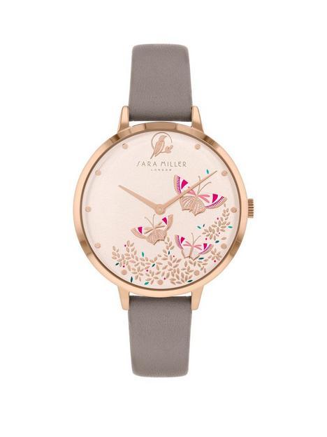 sara-miller-sara-miller-white-butterfly-dial-grey-leather-strap-ladies-watch