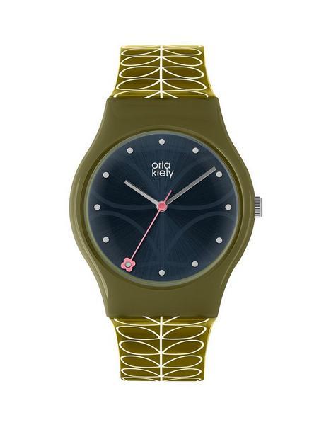 orla-kiely-orla-kiely-bobby-black-sunray-dial-green-stem-print-strap-watch