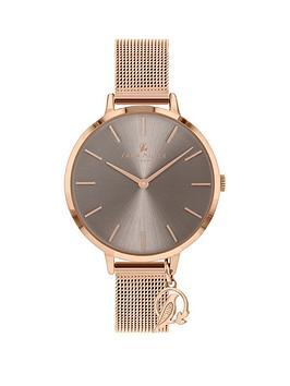 sara-miller-sara-miller-grey-sunray-charm-dial-rose-gold-stainless-steel-mesh-strap-ladies-watch