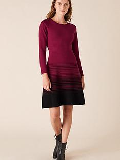 monsoon-sustainable-viscose-ombre-dress-berry