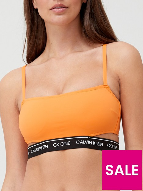 calvin-klein-ck-one-cut-out-bikini-top-orange