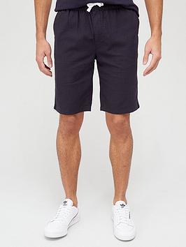 very-man-linen-drawstring-shorts-navy