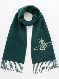 vivienne-westwood-double-face-orb-scarf-teal